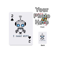 Cute Robot Playing Cards 54 (mini)  by Valentinaart