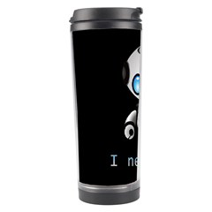 Cute Robot Travel Tumbler by Valentinaart