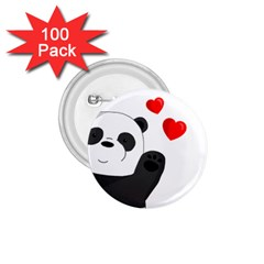 Cute Panda 1 75  Buttons (100 Pack)  by Valentinaart