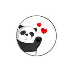 Cute Panda Hat Clip Ball Marker (10 Pack) by Valentinaart
