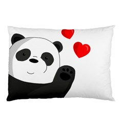 Cute Panda Pillow Case (two Sides) by Valentinaart