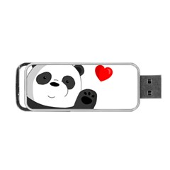 Cute Panda Portable Usb Flash (two Sides) by Valentinaart