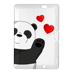 Cute Panda Kindle Fire Hdx 8 9  Hardshell Case by Valentinaart