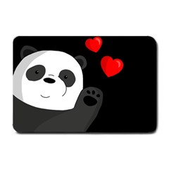 Cute Panda Small Doormat  by Valentinaart