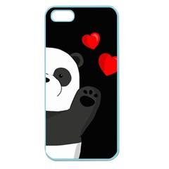 Cute Panda Apple Seamless Iphone 5 Case (color) by Valentinaart