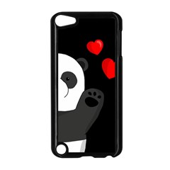 Cute Panda Apple Ipod Touch 5 Case (black) by Valentinaart