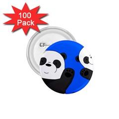 Cute Pandas 1 75  Buttons (100 Pack)  by Valentinaart