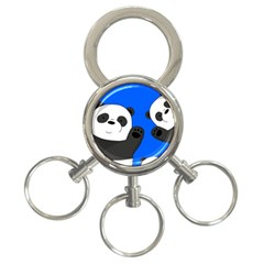 Cute Pandas 3 Ring Key Chains by Valentinaart