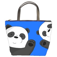 Cute Pandas Bucket Bags by Valentinaart