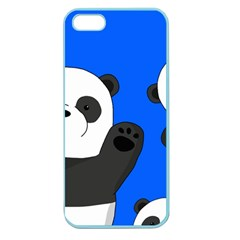 Cute Pandas Apple Seamless Iphone 5 Case (color) by Valentinaart