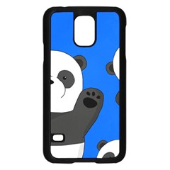 Cute Pandas Samsung Galaxy S5 Case (black) by Valentinaart
