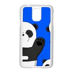 Cute Pandas Samsung Galaxy S5 Case (white) by Valentinaart