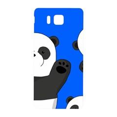 Cute Pandas Samsung Galaxy Alpha Hardshell Back Case by Valentinaart