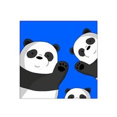 Cute Pandas Satin Bandana Scarf by Valentinaart