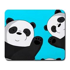 Cute Pandas Large Mousepads by Valentinaart