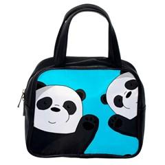 Cute Pandas Classic Handbags (one Side)