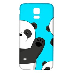 Cute Pandas Samsung Galaxy S5 Back Case (white) by Valentinaart