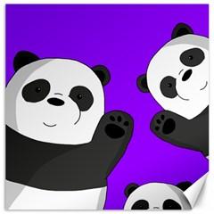 Cute Pandas Canvas 16  X 16   by Valentinaart
