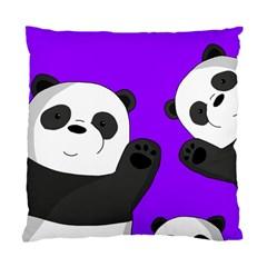 Cute Pandas Standard Cushion Case (two Sides) by Valentinaart