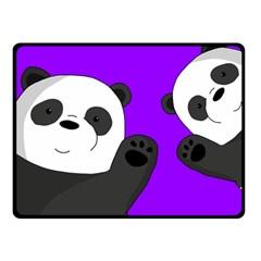 Cute Pandas Double Sided Fleece Blanket (small)  by Valentinaart