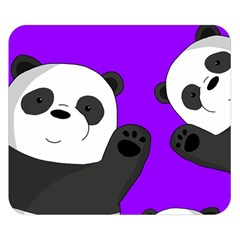 Cute Pandas Double Sided Flano Blanket (small)  by Valentinaart
