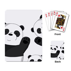 Cute Pandas Playing Card by Valentinaart