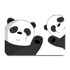 Cute Pandas Plate Mats by Valentinaart