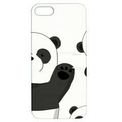Cute Pandas Apple Iphone 5 Hardshell Case With Stand by Valentinaart