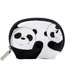 Cute Pandas Accessory Pouches (small)  by Valentinaart