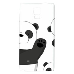 Cute Pandas Galaxy Note 4 Back Case by Valentinaart
