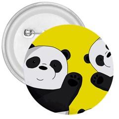 Cute Pandas 3  Buttons by Valentinaart