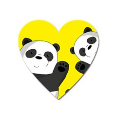 Cute Pandas Heart Magnet by Valentinaart