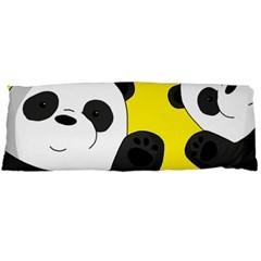 Cute Pandas Body Pillow Case Dakimakura (two Sides) by Valentinaart