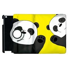 Cute Pandas Apple Ipad 3/4 Flip 360 Case by Valentinaart