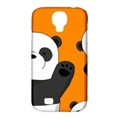 Cute Pandas Samsung Galaxy S4 Classic Hardshell Case (pc+silicone) by Valentinaart