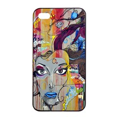 Graffiti Mural Street Art Painting Apple Iphone 4/4s Seamless Case (black) by BangZart