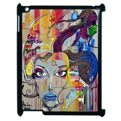 Graffiti Mural Street Art Painting Apple Ipad 2 Case (black) by BangZart