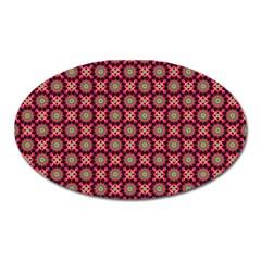 Kaleidoscope Seamless Pattern Oval Magnet by BangZart