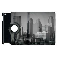 Minneapolis Minnesota Skyline Apple Ipad 2 Flip 360 Case by BangZart