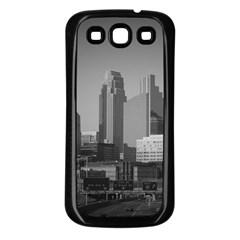 Minneapolis Minnesota Skyline Samsung Galaxy S3 Back Case (black) by BangZart