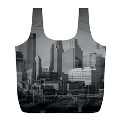 Minneapolis Minnesota Skyline Full Print Recycle Bags (l)  by BangZart