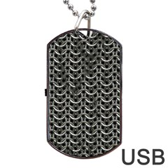 Sparkling Metal Chains 01b Dog Tag Usb Flash (two Sides) by MoreColorsinLife