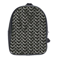 Sparkling Metal Chains 01b School Bag (xl) by MoreColorsinLife