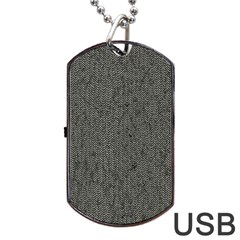 Sparkling Metal Chains 02b Dog Tag Usb Flash (one Side) by MoreColorsinLife