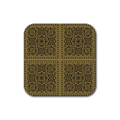 Seamless Pattern Design Texture Rubber Square Coaster (4 Pack)  by BangZart