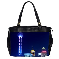 Shanghai Oriental Pearl Tv Tower Office Handbags (2 Sides)  by BangZart