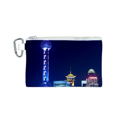 Shanghai Oriental Pearl Tv Tower Canvas Cosmetic Bag (s) by BangZart