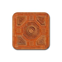 Symbolism Paneling Oriental Ornament Pattern Rubber Square Coaster (4 Pack)  by BangZart