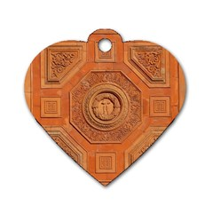 Symbolism Paneling Oriental Ornament Pattern Dog Tag Heart (one Side) by BangZart
