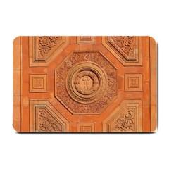 Symbolism Paneling Oriental Ornament Pattern Small Doormat  by BangZart